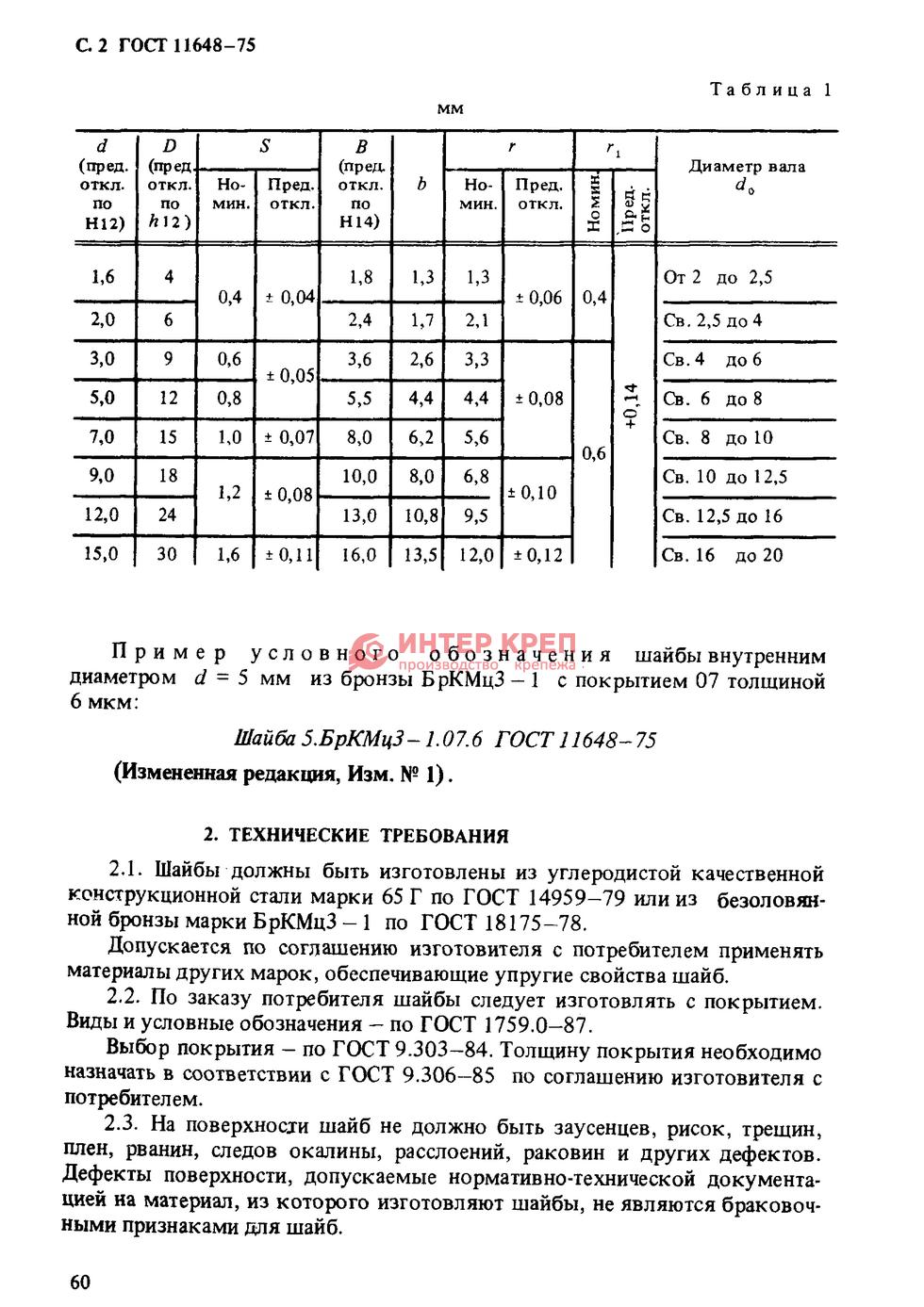 Гост 11648-75 шайба упорная быстросъемная оптом.